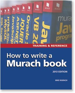 How to Write a Murach Book