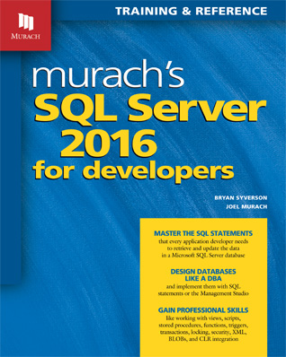 SQL Server Programming Book for College Instructors | Murach Books