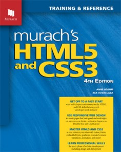 HTML5 Programming Book | CSS3 Programming Book | Murach Books